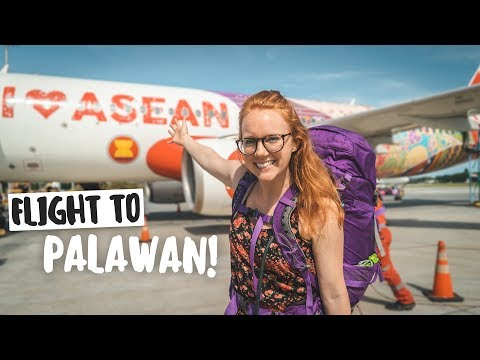 Palawan HERE WE COME!! (Flight from Cebu to Palawan, Philippines)