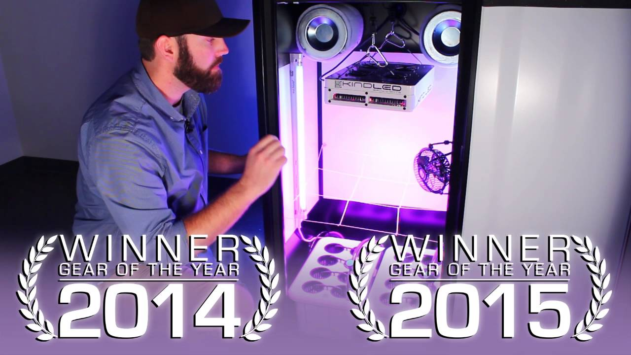 SuperStar LED Grow Cabinet By SuperCloset - YouTube