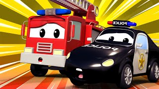 Auto, tank,   Jerry, die Räder gestohlen werden,   Autostad   Feuer cartoon für Kinder