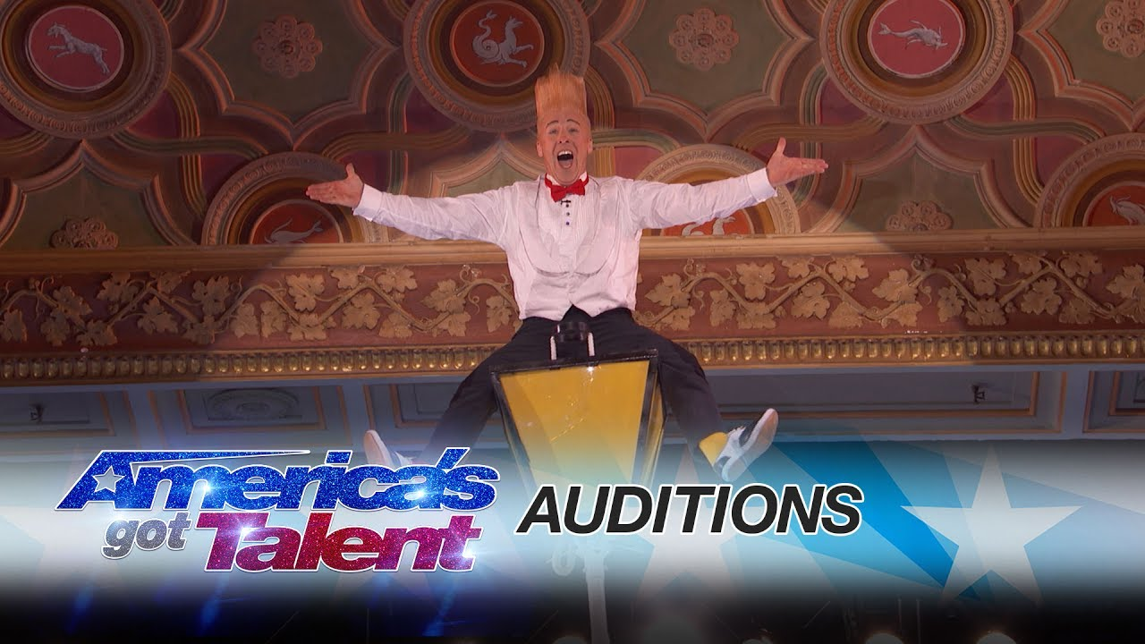 Americas got talent 2017 science guy - Bello Nock Circus Performer Thrills From Towering Heights America S Got Talent 2017