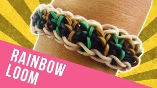 How To Make a Reversible Rainbow Loom Straightaway Bracelet