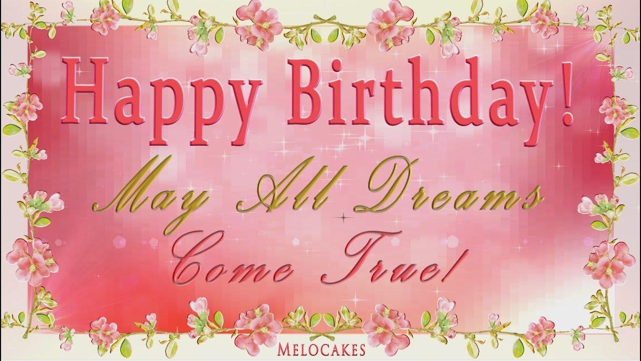 Happy Birthday 4K Video Greeting Cards 2017 YouTube – Video Birthday Cards