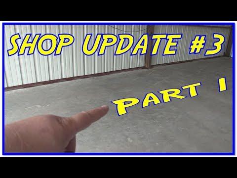 Shop Update 3 Part 1- Rustoleum EpoxyShield Floor Paint   Cleaning and  Etching the Concrete