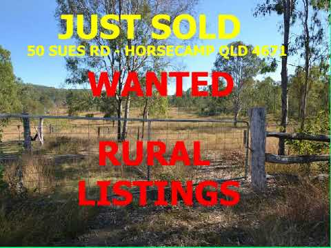 RURAL LISTINGS WANTED - Vacant land - homes on acreage
