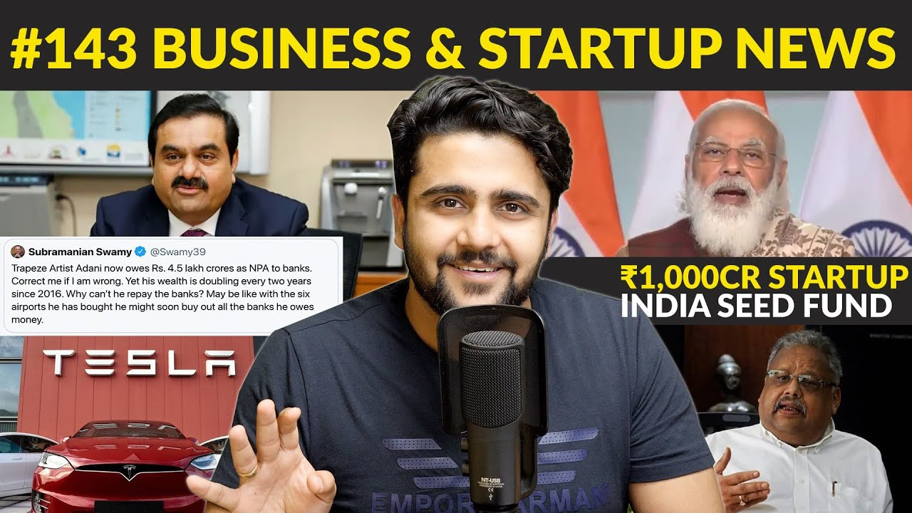 ₹1,000cr Startup India🇮🇳 Seed Fund🤑,Adani ₹4.5 lakh Cr NPA😱,Hike shuts down,Bad Bank,Nazara IPO😍