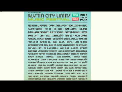2017 ACL Music Fest lineup released