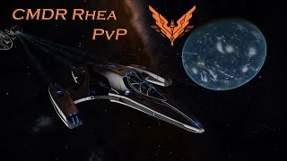 Elite: Dangerous 1.3 - Just answering some questions. (PvP - Imperial Courier vs Vulture)