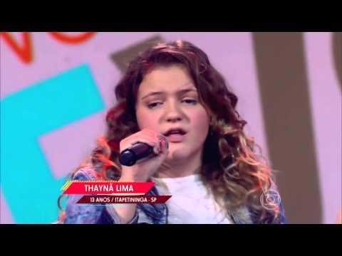 Thaynã Lima canta 'Um dia de domingo' no The Voice Kids - Audições|1ª Temporada