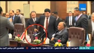 """بالفيديو.. وزير الرى: لن نسمح بالجلوس أمام """"مايكرفون الجزيرة"""""""