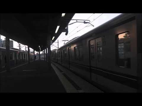 Train of the Seibu Haijima Line leaving Haijima Station of the morning