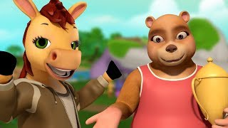 The Bear and the Horse Bengali Rhymes for Children   Infobells