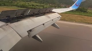 "ArkeFly B737-800 Landing Ohrid ""St. Paul the Apostle"" Airport flight 171 from Amsterdam"