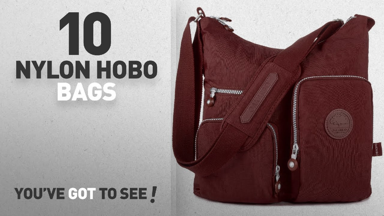 6ff61a3d84 Top 10 Nylon Hobo Bags For Women  Oakarbo Nylon Multi-Pocket ...