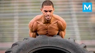"""EXPLOSIVE WORKOUT MONSTER - Ryan """"Rynosaurusflex"""" Tremaine   Muscle Madness"""