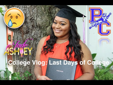 College Vlog| Last Days of College + Graduation| Jade Ashley 🎓