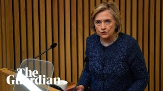 Hillary Clinton on Tories: a long way from party of Churchill and Thatcher