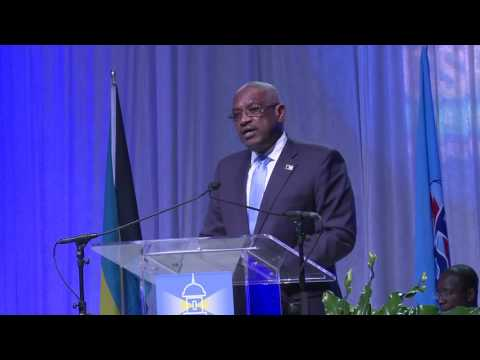 Dr. The Hon. Hubert Minnis,  Prime Minister Bahamas, Opening Remarks at GSR-17