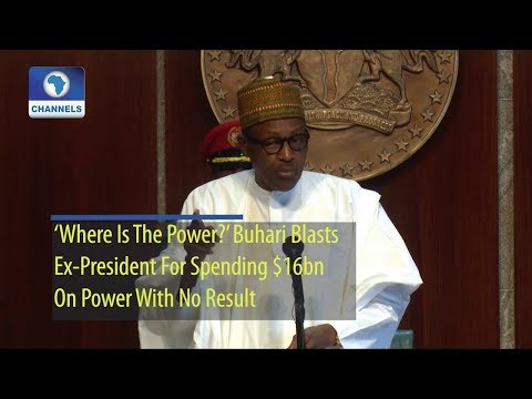 'Where Is The Power?' Buhari Blasts Ex-President For Spending $16bn On Power With No Result