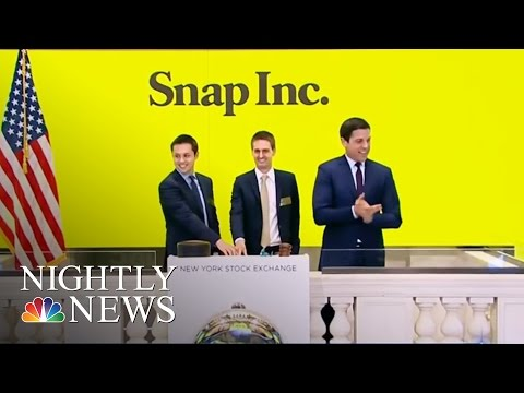 Billions For Snapchat: Shares Soar As Social Media Company Goes Public | NBC Nightly News