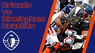Alliance of American Football : Apollos vs Iron reaction and highlights