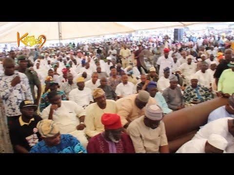 "Tears and Pains! Massive Crowd At Late Oyo NURTW Boss ""Fele"" Fidau Prayer At His Home In Ibadan"