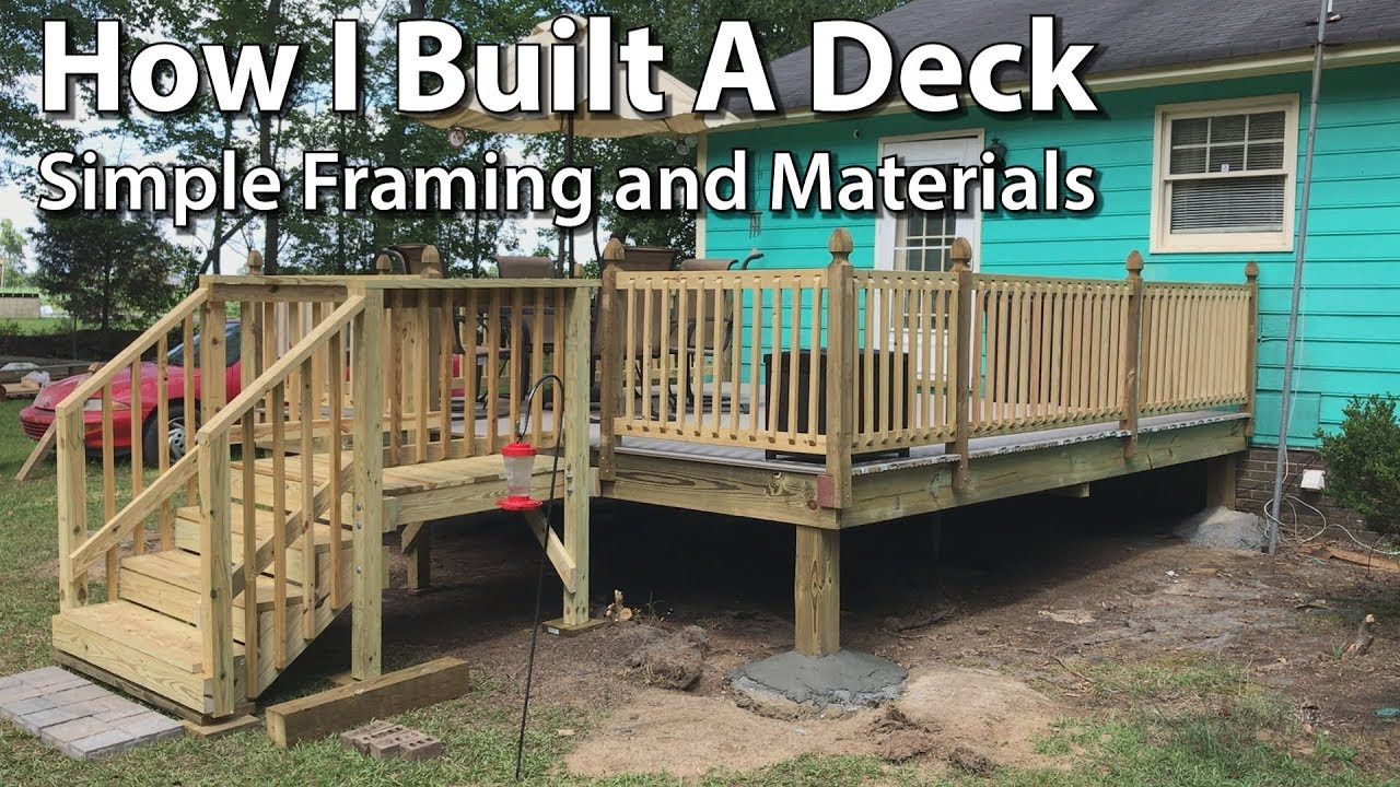 How To Build A Simple Deck Framing And Materials You