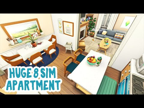 Huge Apartment For 8 Sims 🧸    The Sims 4 Apartment Renovation: Speed Build