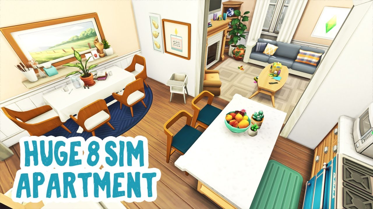 Huge Apartment for 8 Sims 🧸 || The Sims 4 Apartment Renovation: Speed Build thumbnail