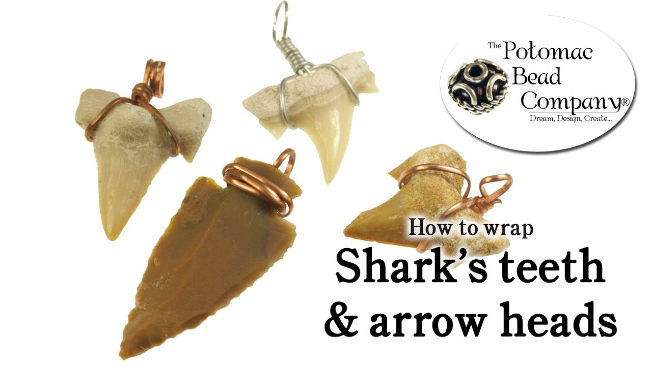 How to Wire Wrap Shark Teeth & Arrow Heads Easy DIY - YouTube
