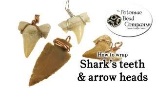 How to Wire Wrap Shark Teeth & Arrow Heads Easy DIY