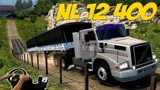 VOLVO NL12 400 - BITREM NA LADEIRA - EURO TRUCK SIMULATOR 2 - VOLANTE G27