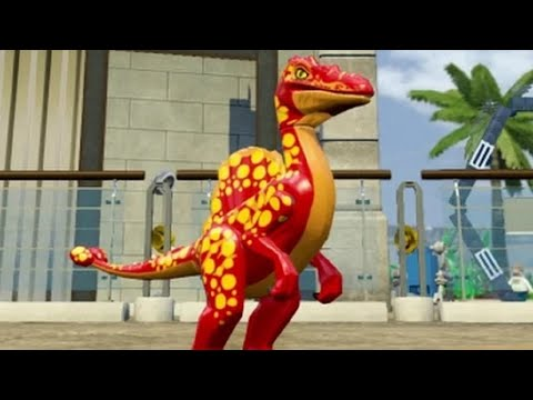 LEGO Jurassic World - Compsognathus Unlock Location + Gameplay (Skeleton & Custom Dinosaur)