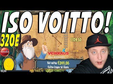 320€ ISO VOITTO! | VEIKKAUS NETTIKASINO (Online Casino) + Giveaway