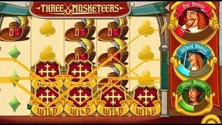 Machine à sous THREE MUSKETEERS avec ses trois bonus de Athos, Portos et Aramis ❈❈❈