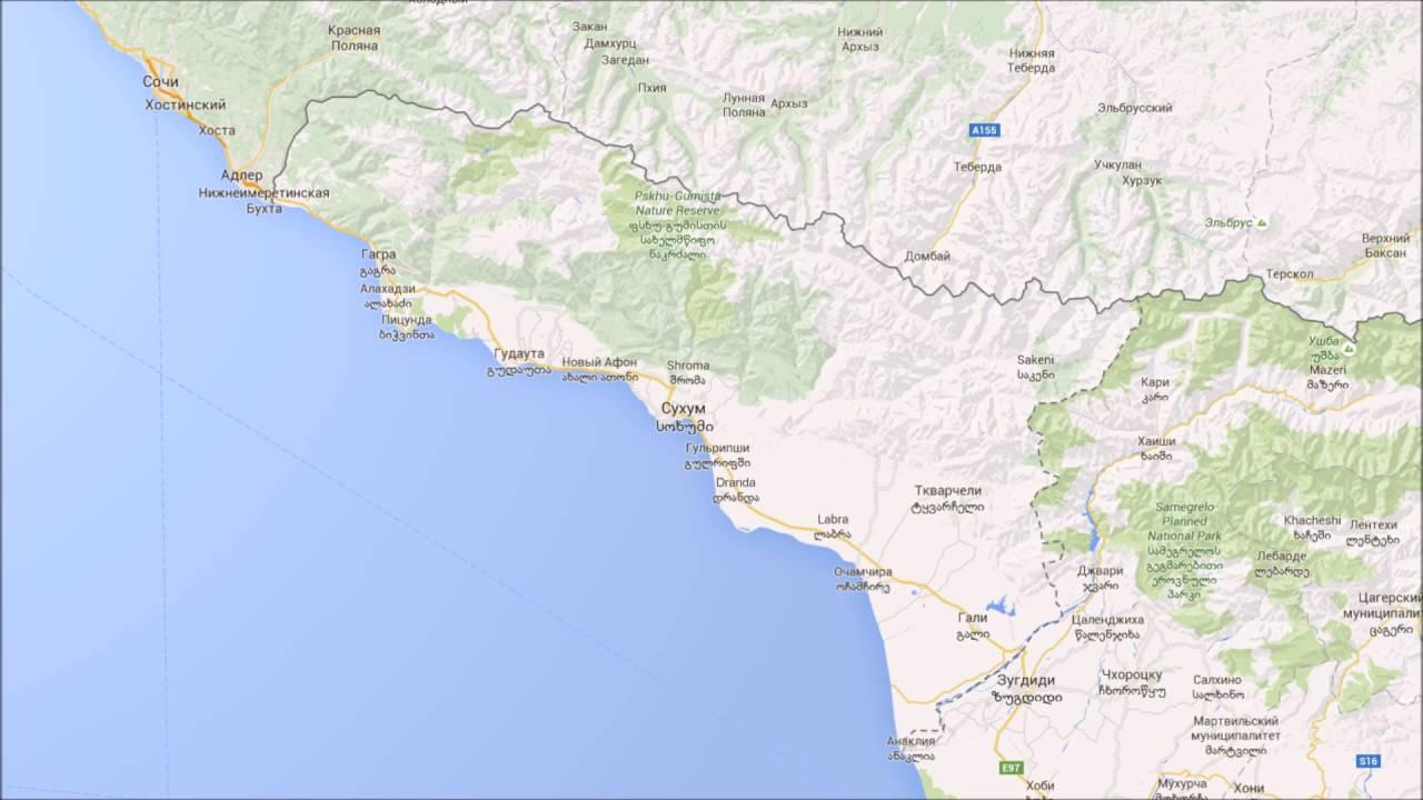 карта абхазии фото