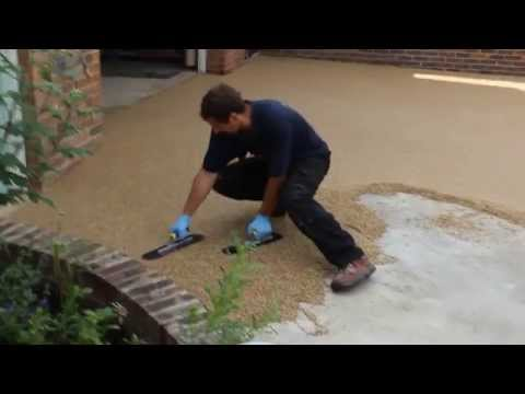 how to lay resin bound driveway by LK installers