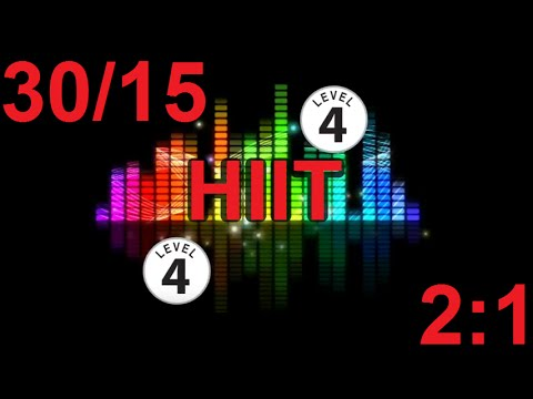 HIIT Music Track – Level 4 – 3015, 20mins – PLUS VOICE PROMPTS