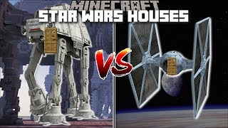 Minecraft STAR WARS BUILDS VS STAR WARS HOUSE MOD / BUILD AND BATTLE TO SURVIVE !! Minecraft