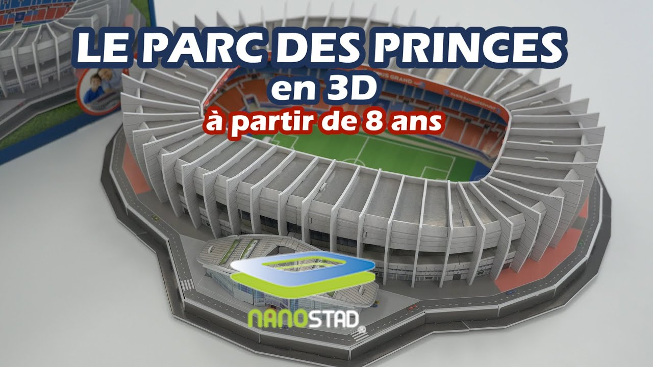 nanostad parc des princes 3d d mo de la construction du puzzle 3d youtube. Black Bedroom Furniture Sets. Home Design Ideas