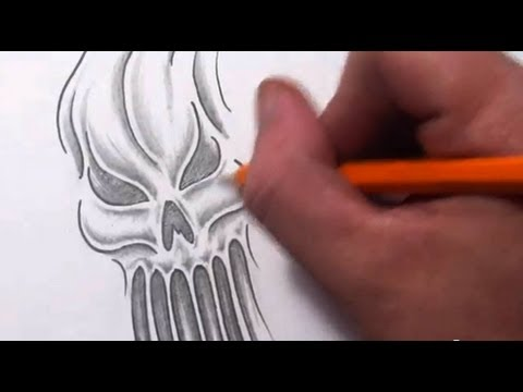 How To Draw an Evil Skull Ghost or Ghoul