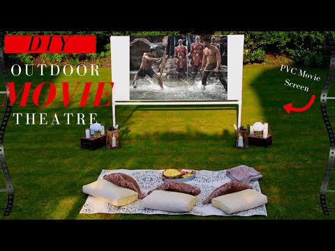 DIY Projector Screen | Backyard Movie Theatre Decor Ideas |  SUPER EASY!!!