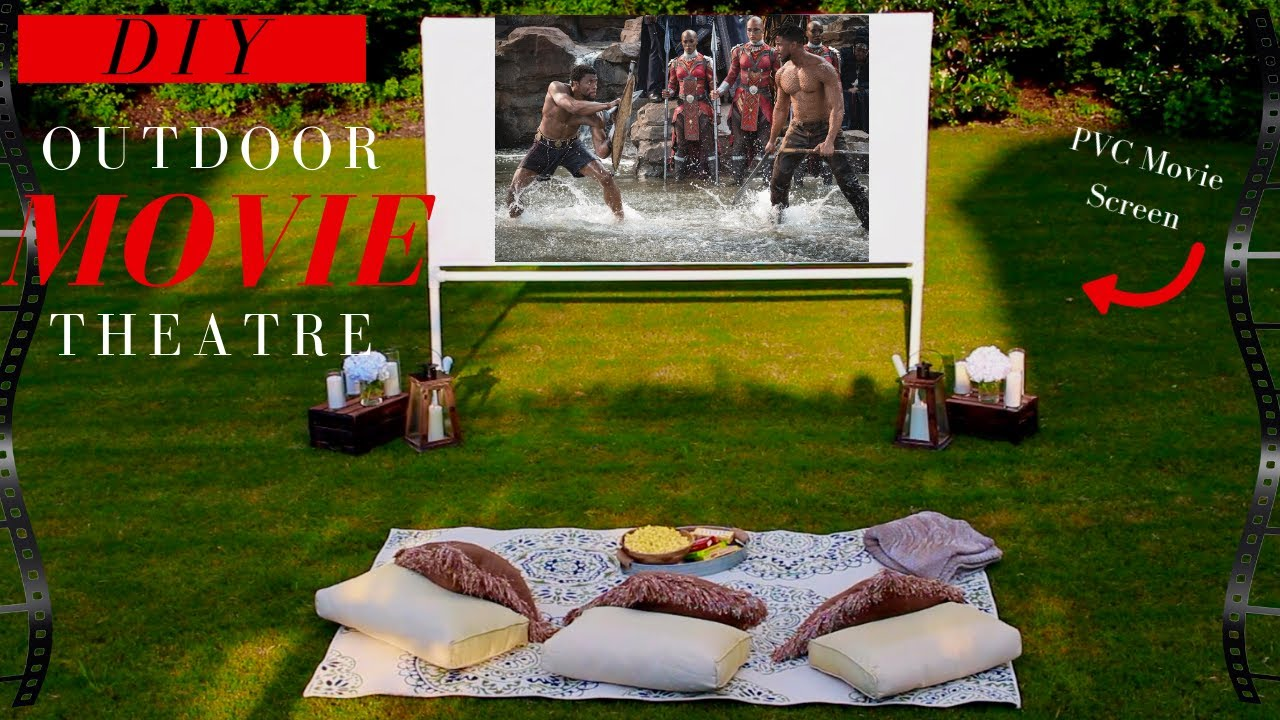 Diy Projector Screen Backyard Movie Theatre Decor Ideas Super Easy