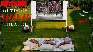 DIY Projector Screen | Backyard Movie Theatre Decor Ideas |  SUPER EASY!!!
