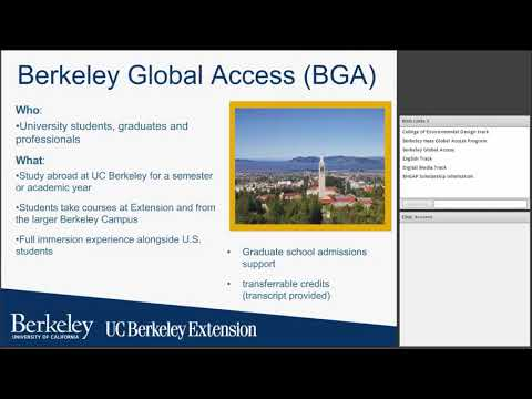 Berkeley Global Access Tracks Informational Webinar