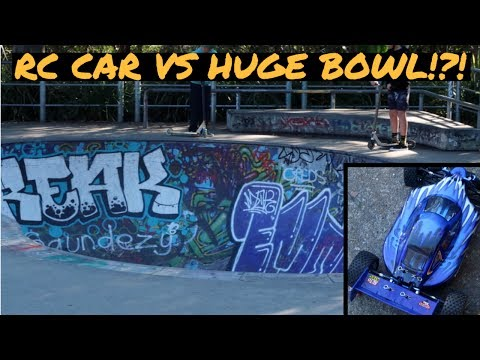 RC CAR vs HUGE BOWL!?!