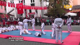 inhisar ilçesin de karate gösterisi