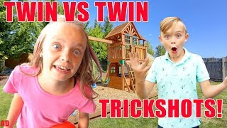 Girl VS Boy Twin Games Challenge! Kids Fun TV