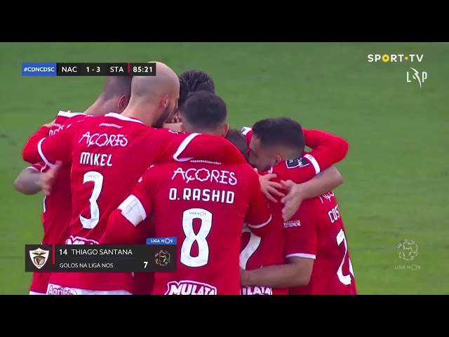 Goal | Golo Thiago Santana: CD Nacional 1-(3) Santa Clara (Liga 20/21 #9)