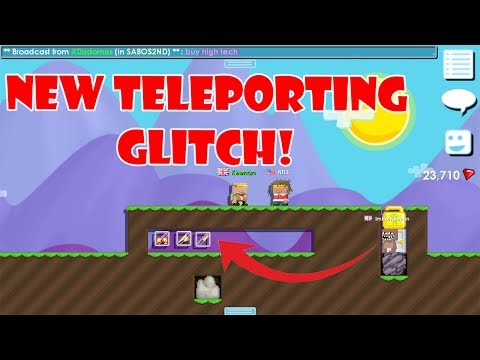 Growtopia - New Teleporting Glitch! (NEW SCAM)