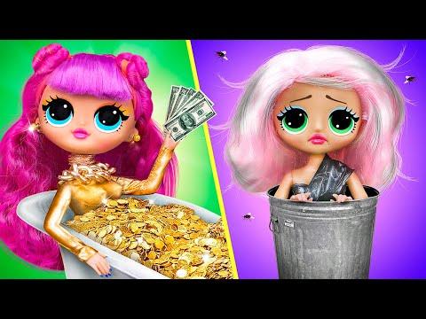Богатая кукла против бедной! 10 идей для кукол Барби
